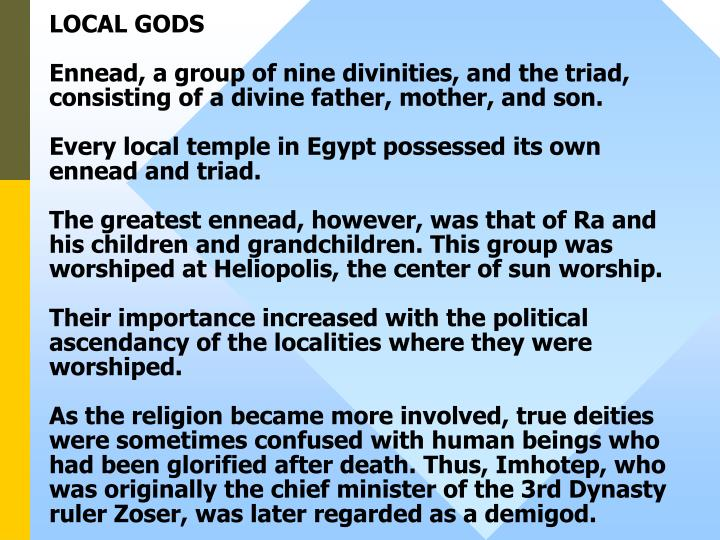LOCAL GODS