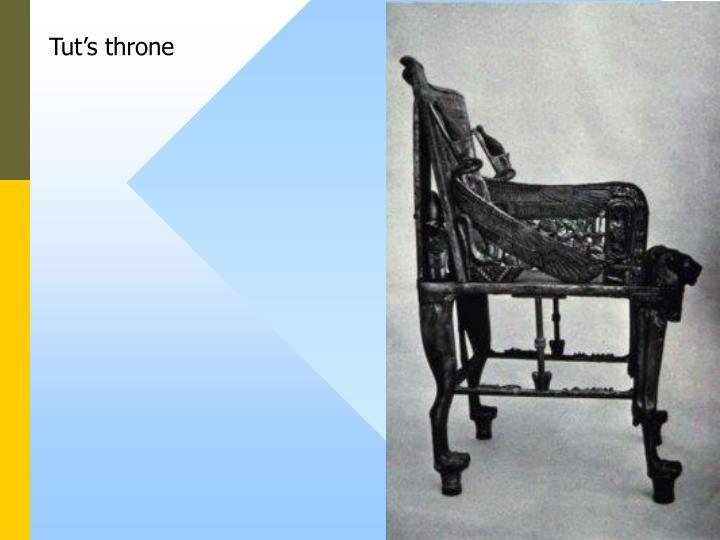 Tut's throne