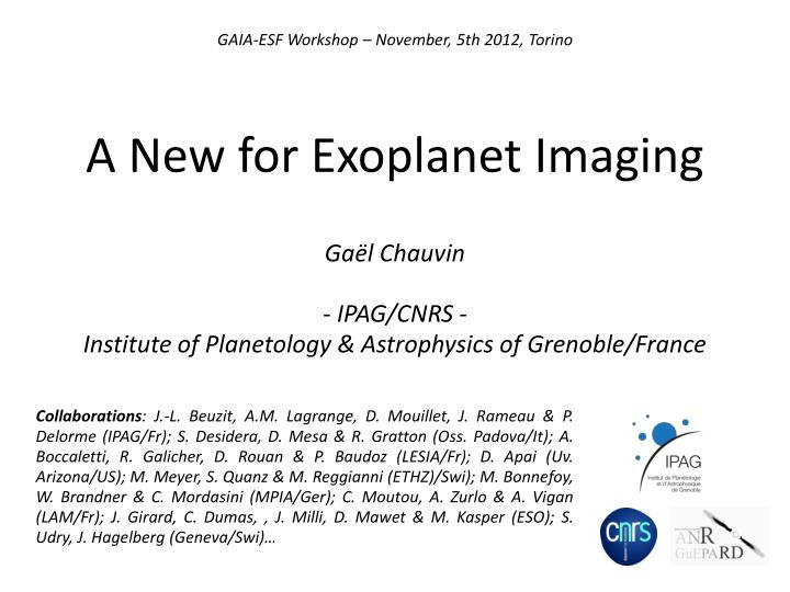a new for exoplanet imaging n.