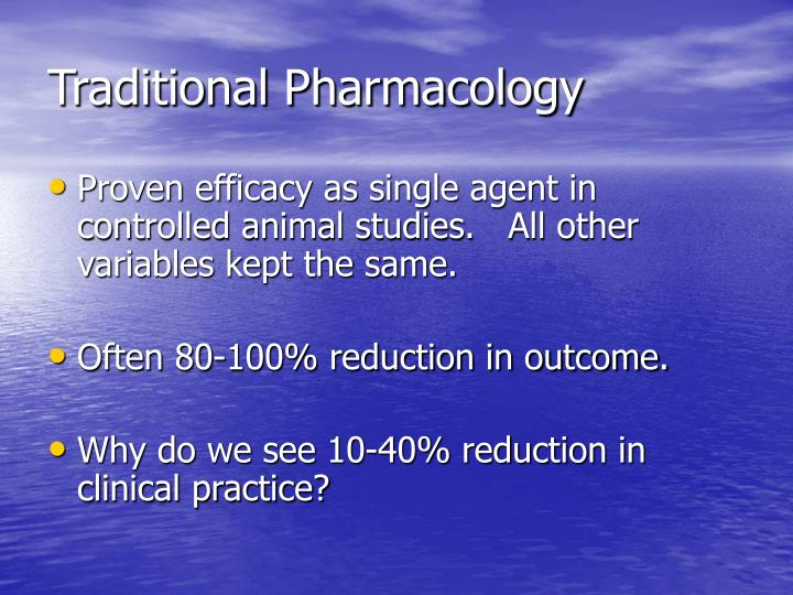 Traditional pharmacology