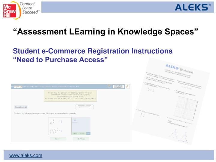 """Assessment LEarning in Knowledge Spaces"""