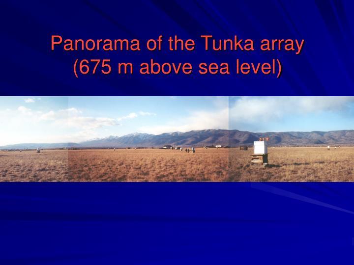 Panorama of the Tunka array