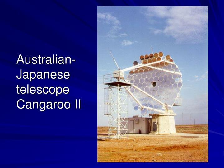 Australian-Japanese telescope Cangaroo II