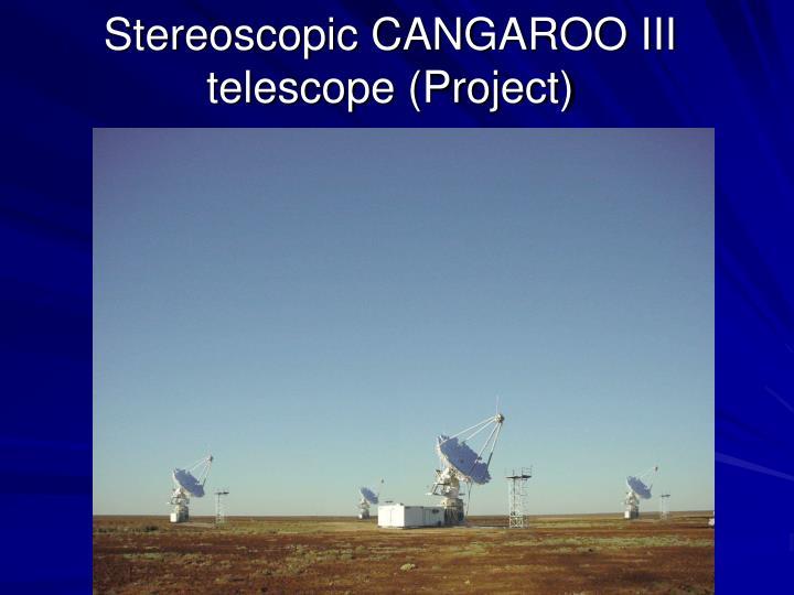 Stereoscopic CANGAROO III telescope (Project)