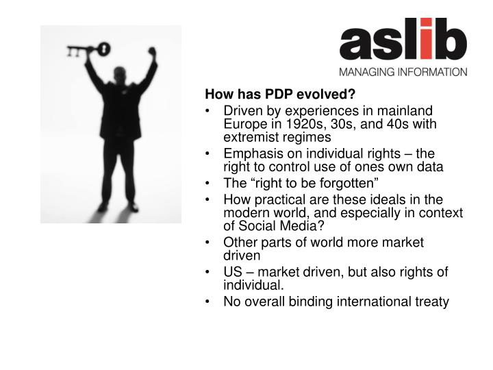 How has PDP evolved?