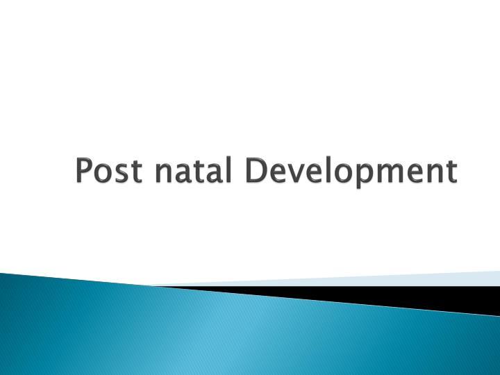 Post natal development