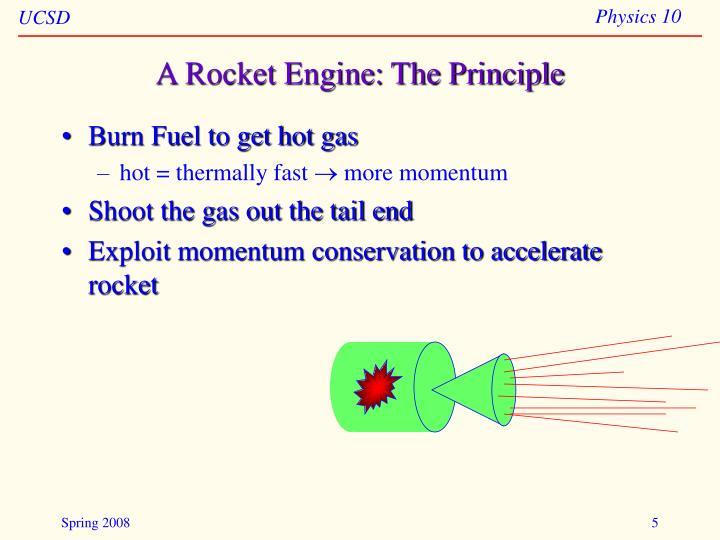 A Rocket Engine: The Principle