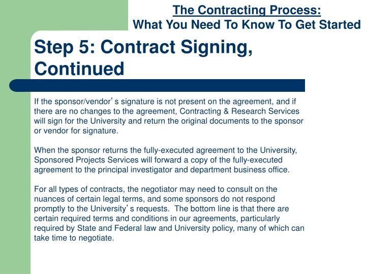 Ppt The Contracting Process What You Need To Know To Get Started