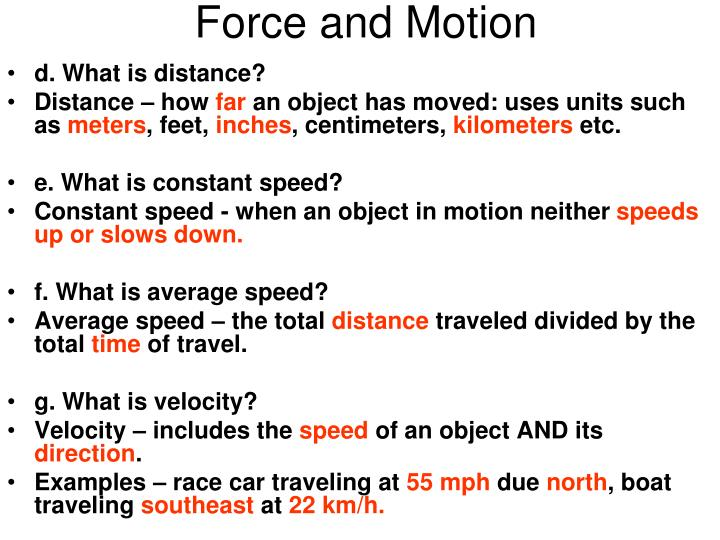 force and motion essay Motion under gravity 1 the weight of a body, w is a force and it can be calculated from the equation w=mg g is the gravitational field strength on earth, g has a value of 981 n/kg.