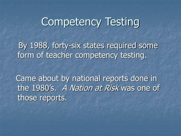 Competency Testing