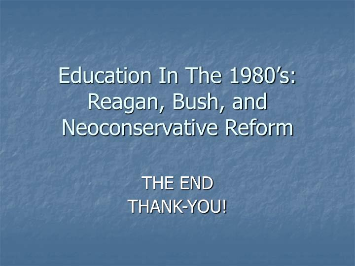 Education In The 1980's: