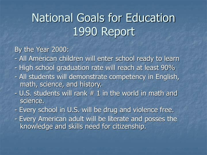 National Goals for Education