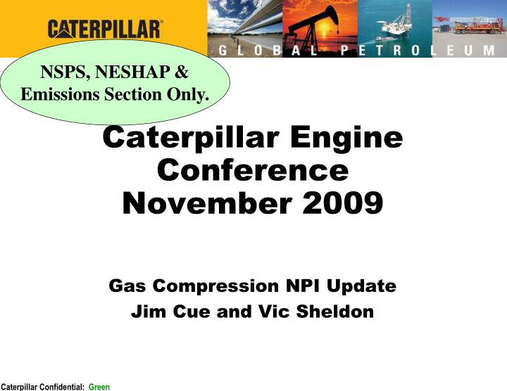 Caterpillar engine conference november 2009