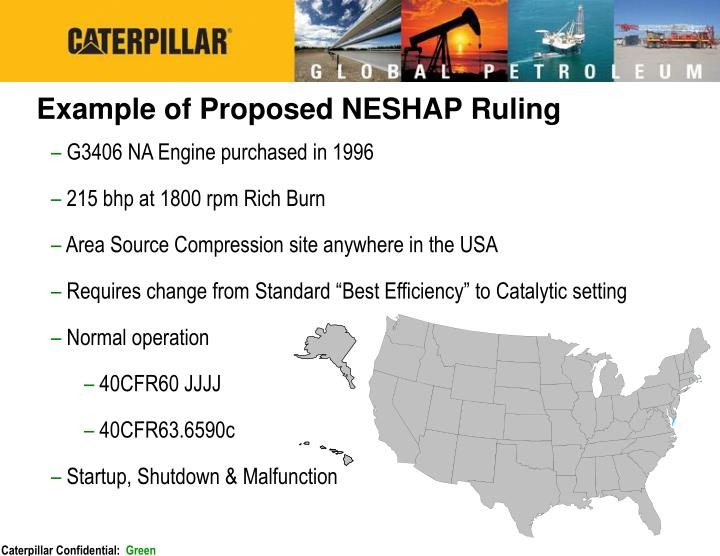 Example of Proposed NESHAP Ruling