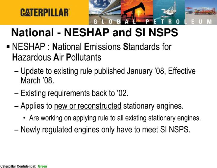 National - NESHAP and SI NSPS