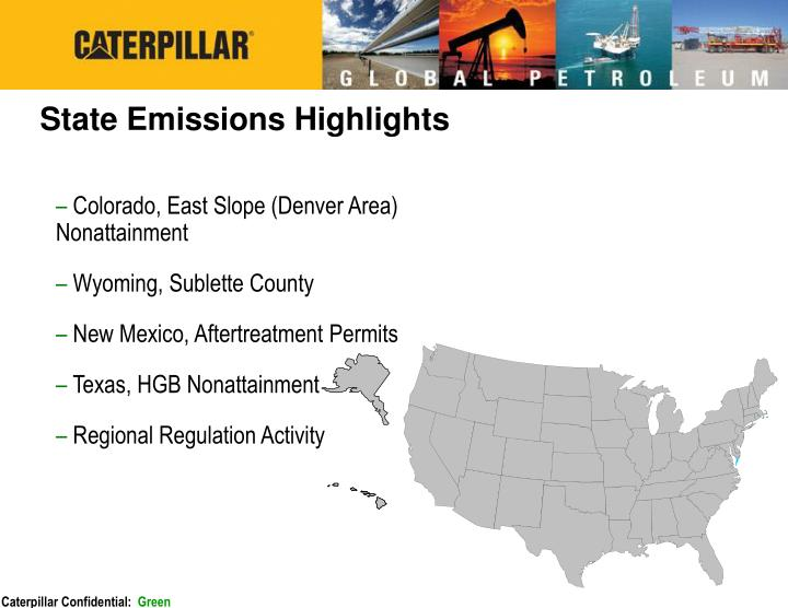 State Emissions Highlights