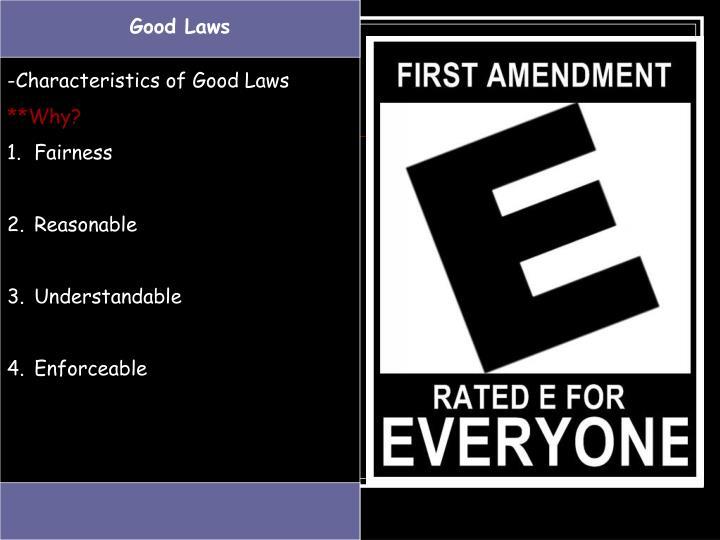 Good Laws