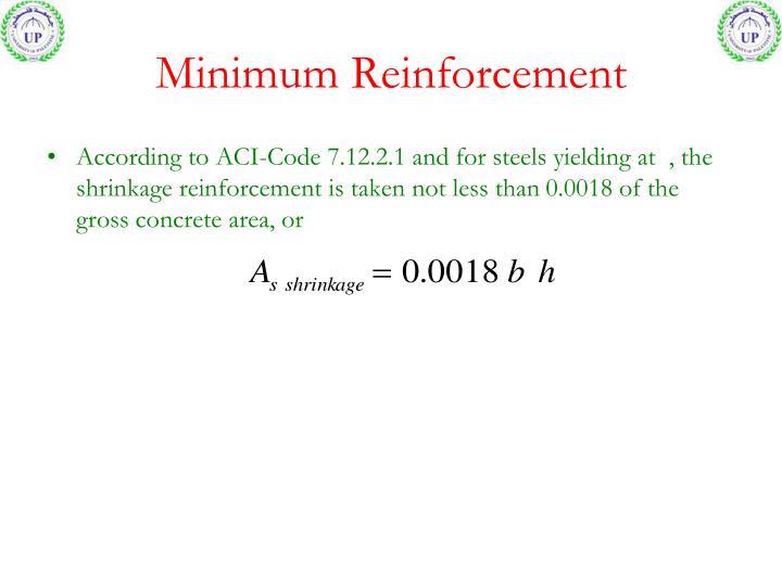 Minimum Reinforcement