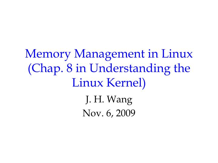 memory management in linux chap 8 in understanding the linux kernel n.