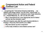 congressional action and federal common law