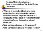 the use of international law as a guide to interpretation of the united states constitution