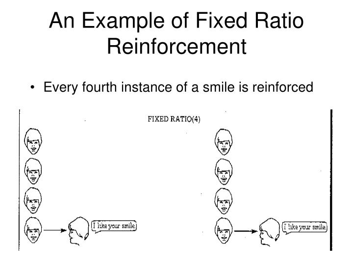 An Example of Fixed Ratio Reinforcement