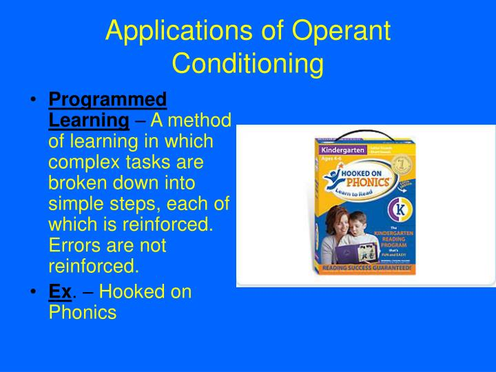 Applications of Operant Conditioning