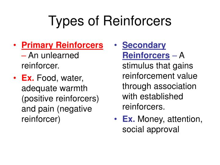 Primary Reinforcers