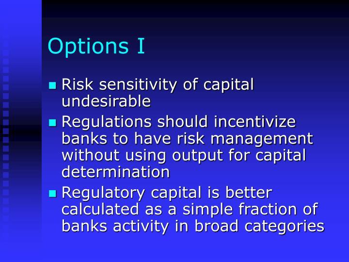 Options I