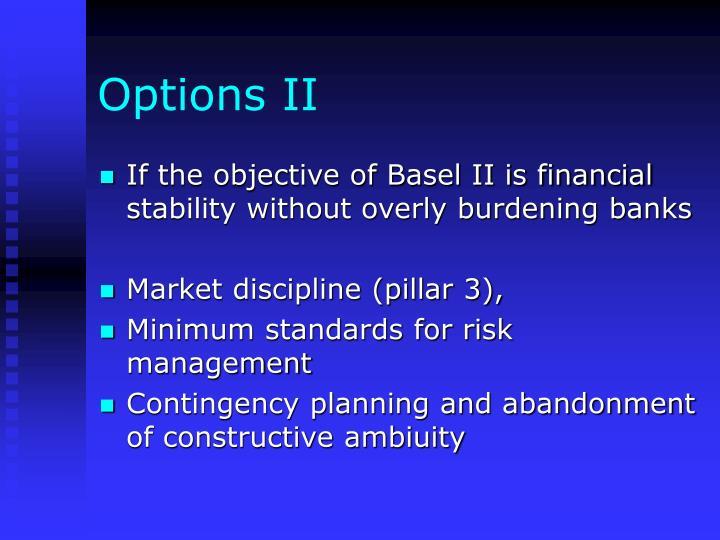 Options II