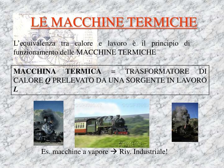 LE MACCHINE TERMICHE