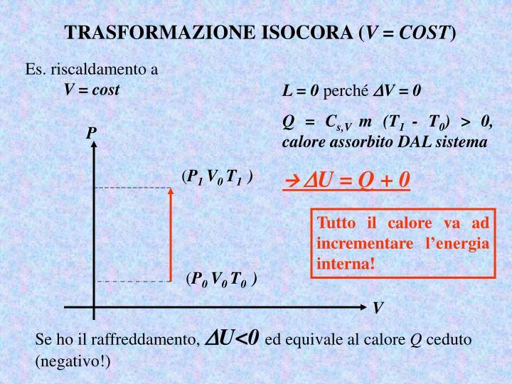 TRASFORMAZIONE ISOCORA (