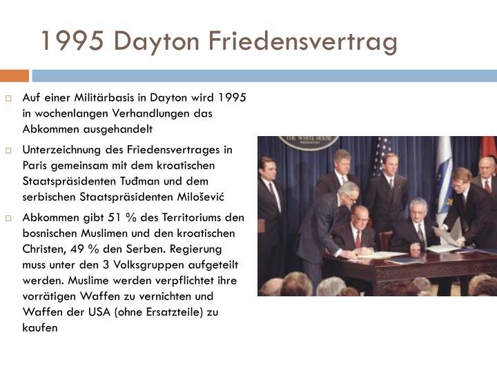 1995 Dayton Friedensvertrag