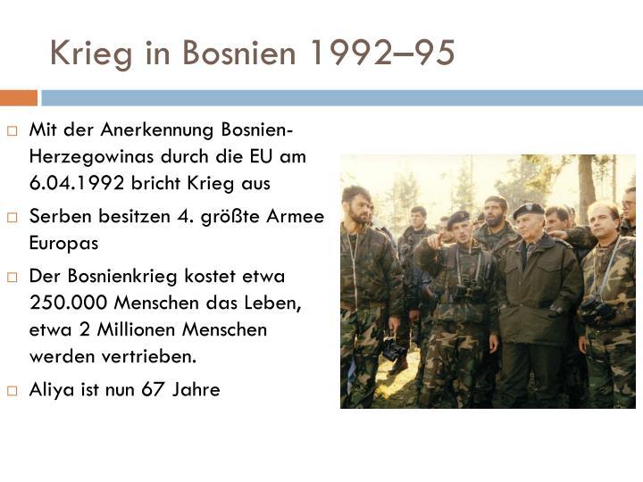 Krieg in Bosnien 1992–95