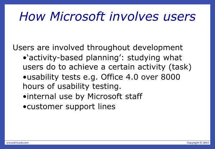 How Microsoft involves users