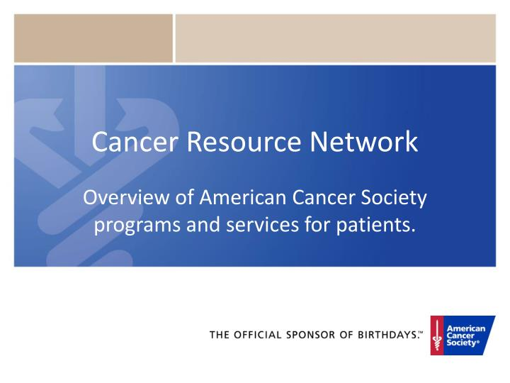 an overview of the american cancer society On nutrition and physical activity for cancer prevention this document is a condensed version of the article describing the american cancer society (acs) nutrition and physical activity guidelines, which are updated about every 5 years the guidelines were developed by the american cancer society nutrition and physical activity guidelines advisory committee.