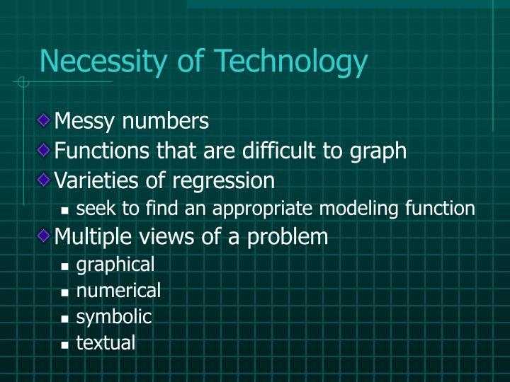 Necessity of Technology