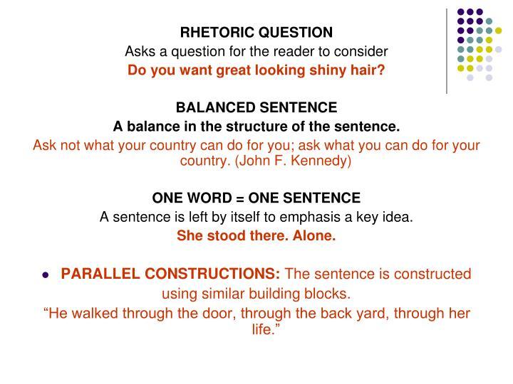 RHETORIC QUESTION