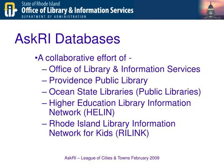 AskRI Databases