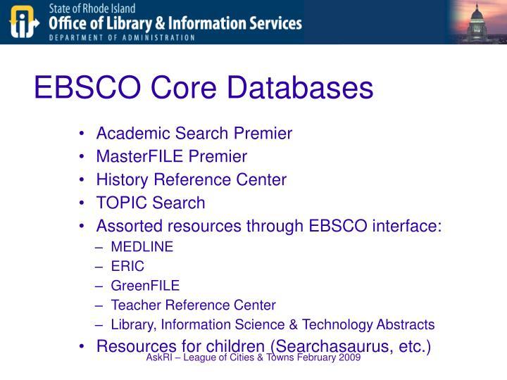 EBSCO Core Databases