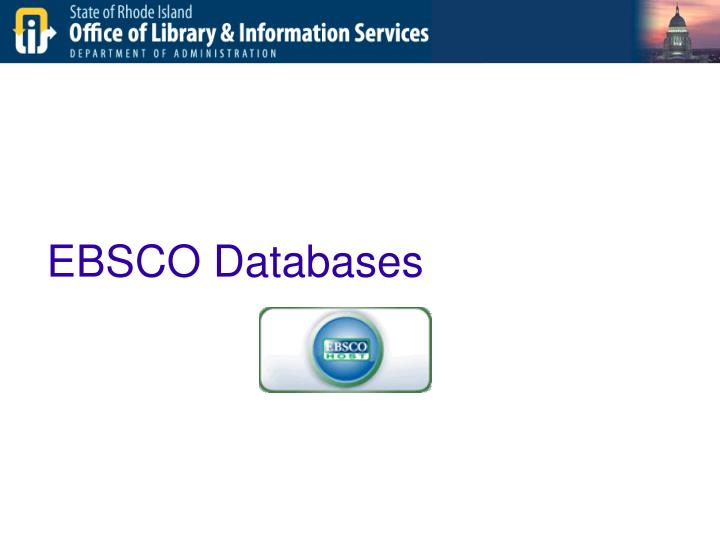 EBSCO Databases