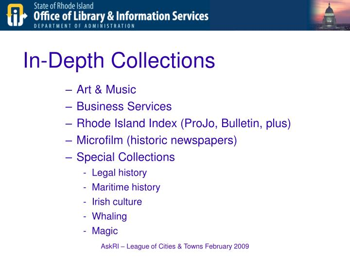 In-Depth Collections