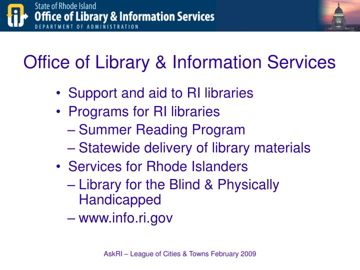 Office of library information services