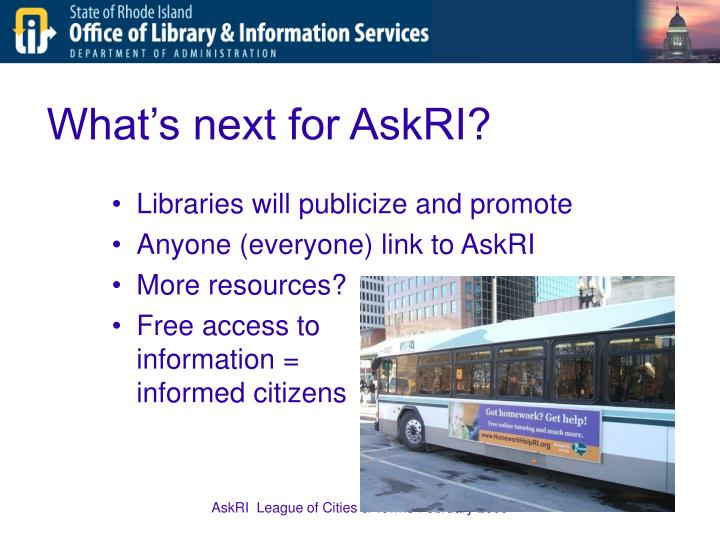 What's next for AskRI?