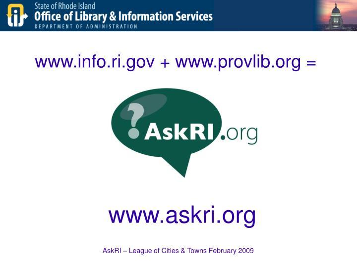 www.info.ri.gov + www.provlib.org =