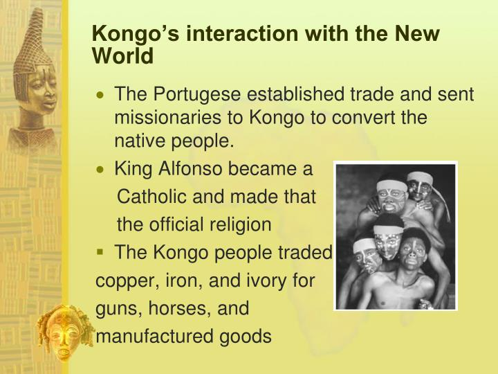 Kongo's interaction with the New World