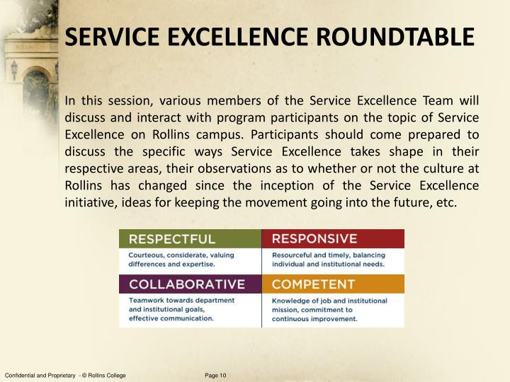 SERVICE EXCELLENCE ROUNDTABLE