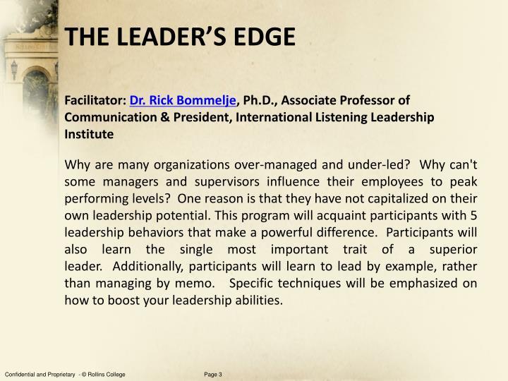 The leader s edge