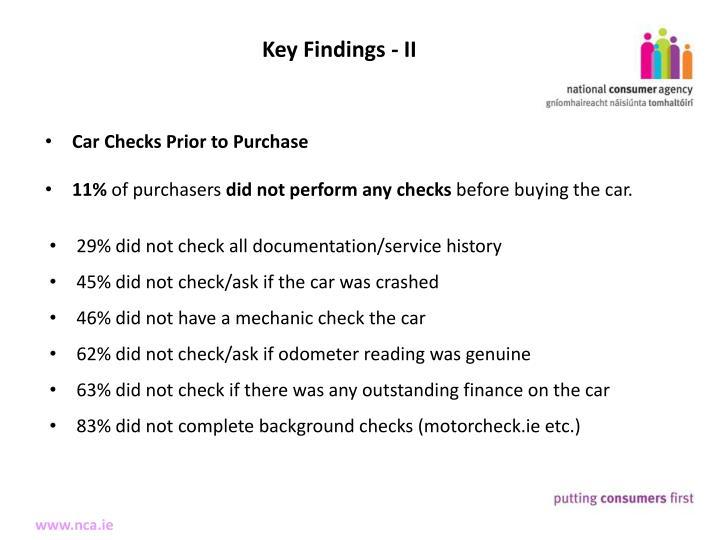 Key Findings - II