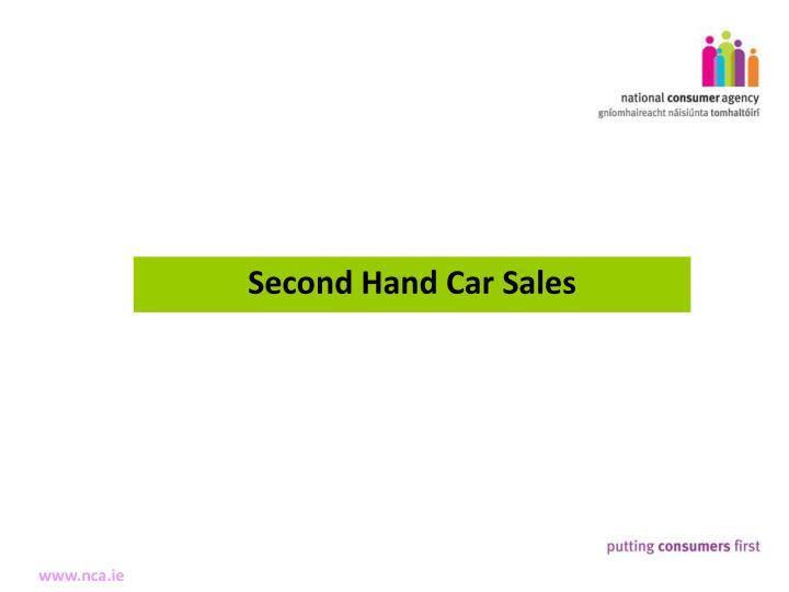 Second Hand Car Sales